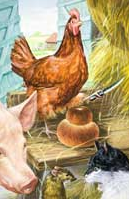 Ladybird books Little Red Hen - the original Robert Lumley artwork
