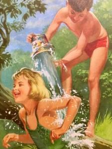 Jane getting splashed