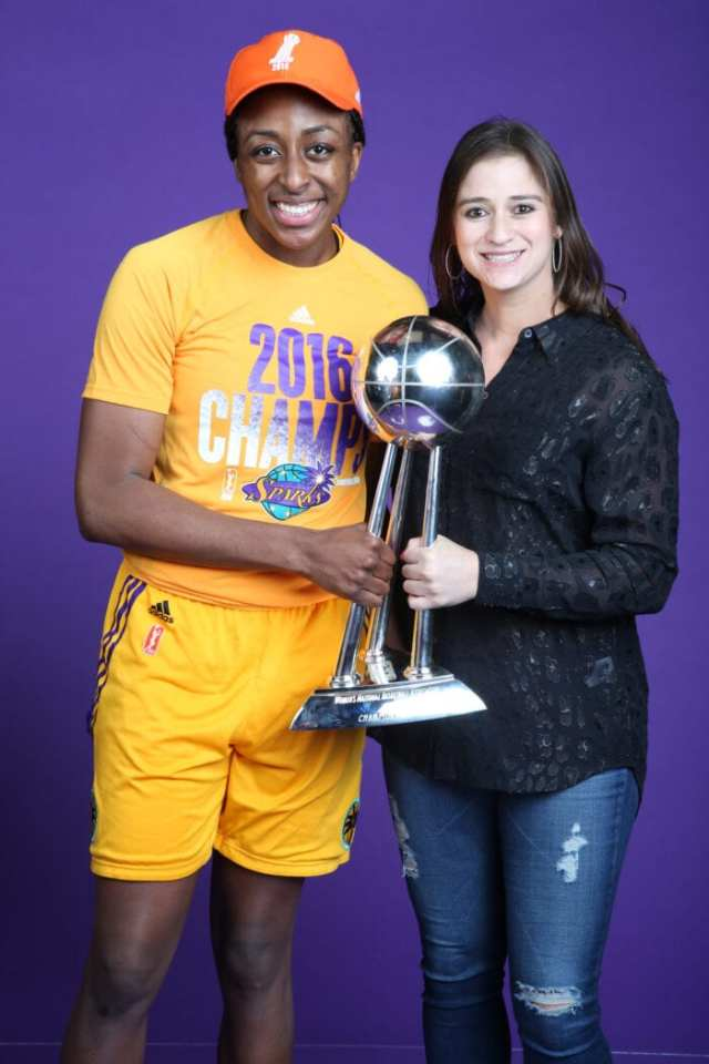 MINNEAPOLIS, MN - OCTOBER 20: during the WNBA Finals Game 5 on October 20, 2016 at Target Center in Minneapolis, Minnesota. NOTE TO USER: User expressly acknowledges and agrees that, by downloading and or using this Photograph, user is consenting to the terms and conditions of the Getty Images License Agreement. Mandatory Copyright Notice: Copyright 2016 NBAE (Photo by David Sherman/NBAE via Getty Images)