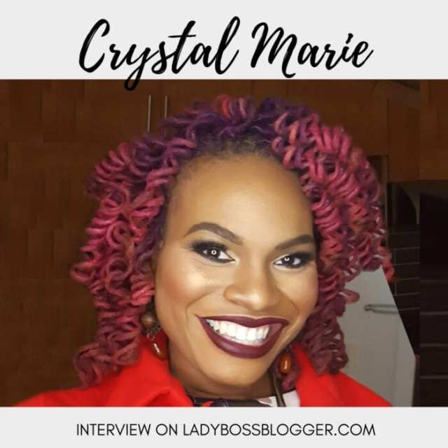 Female entrepreneur lady boss blogger Crystal Marie Young