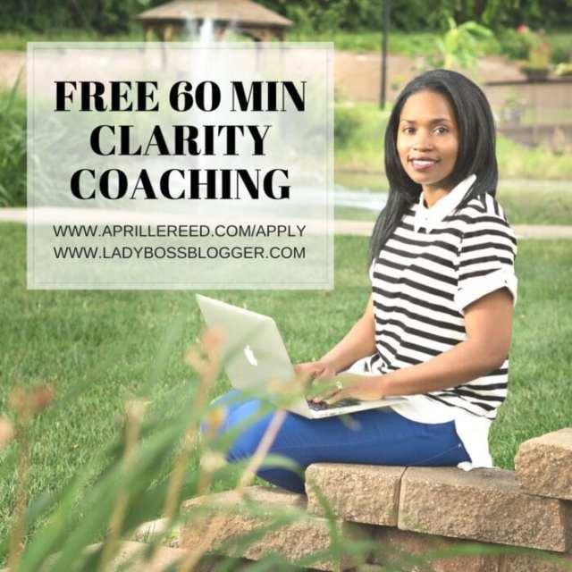 Female entrepreneur lady boss blogger Aprille Reed business coach
