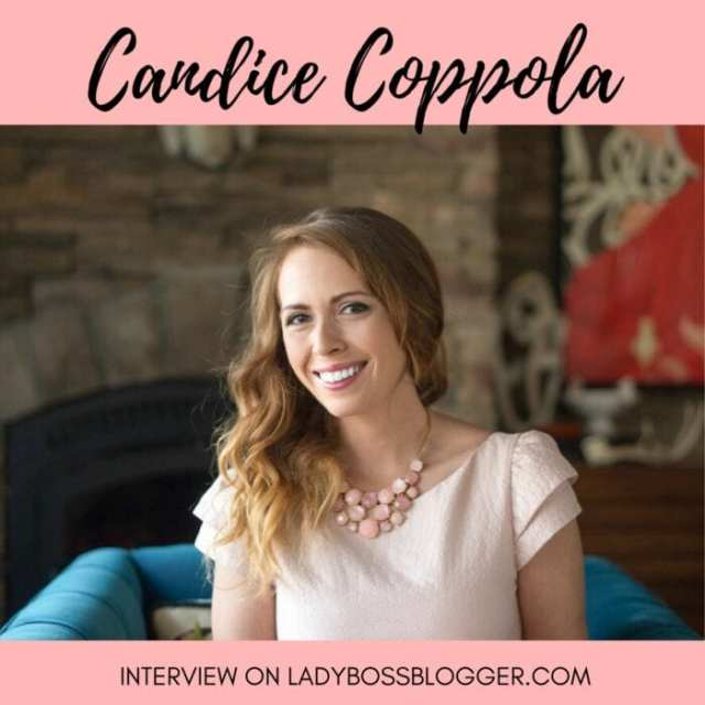 Female entrepreneur lady boss blogger Candice Coppola event planner