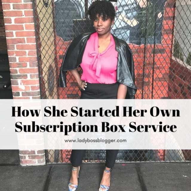 Female entrepreneur lady boss blogger Lakeesha Hargis subscription box