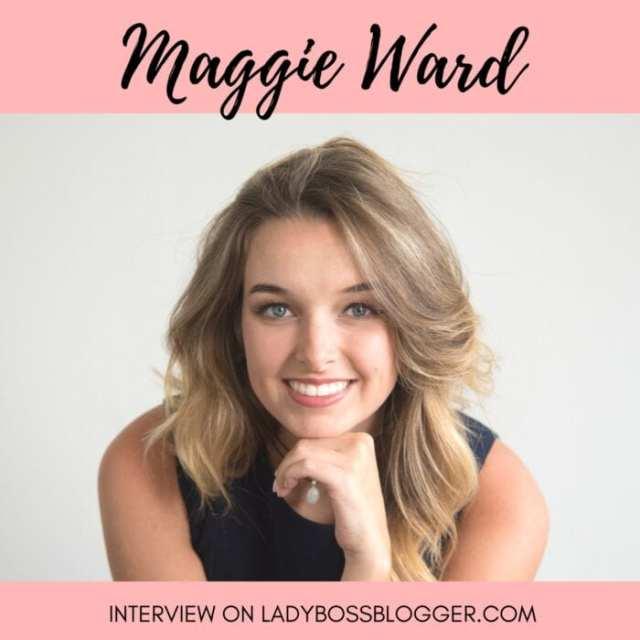 Female entrepreneur lady boss blogger Maggie Ward social media manager