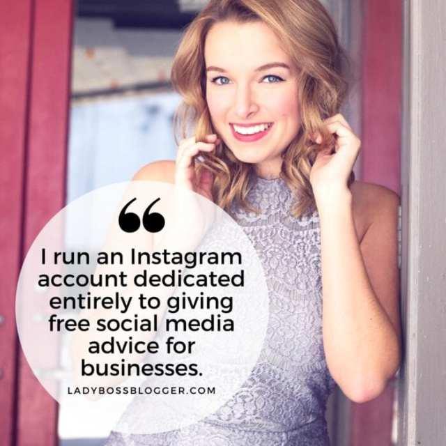 Female entrepreneur lady boss blogger Maggie Ward social media marketing