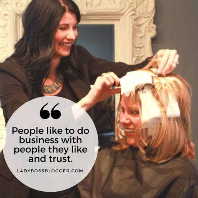 Female entrepreneur lady boss blogger Nina Tulio coach for hair stylist and salon owners and managers