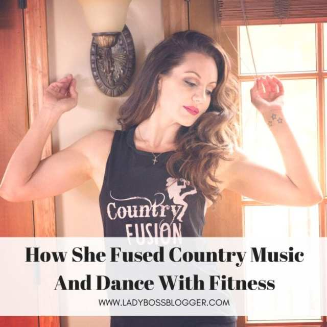 Female entrepreneur lady boss blogger Elizabeth Mooney country music fitness instructor