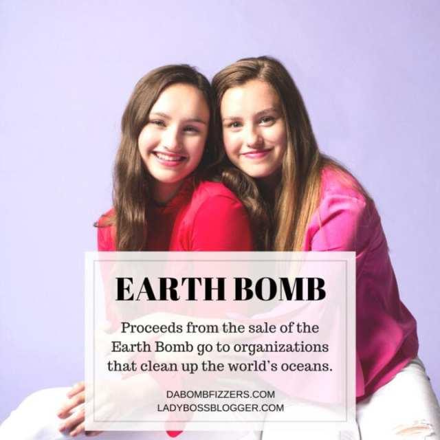 Female entrepreneur lady boss blogger Isabel And Caroline Bercaw bath bomb