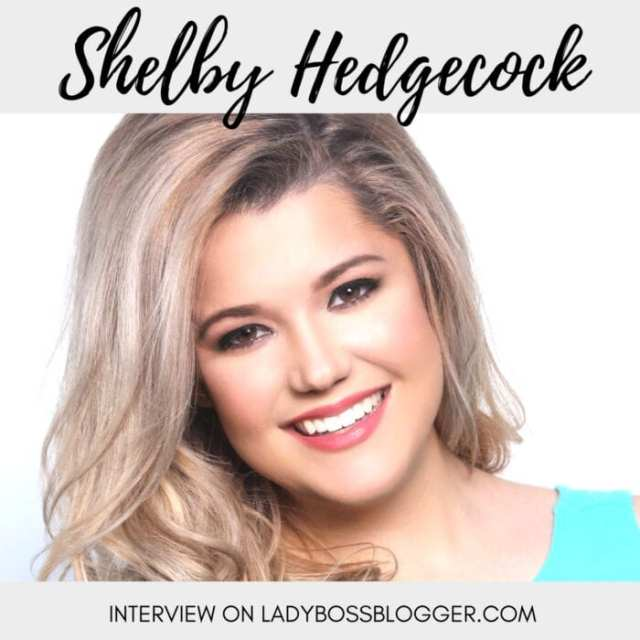 Female entrepreneur lady boss blogger Shelby Hedgecock authentic actress