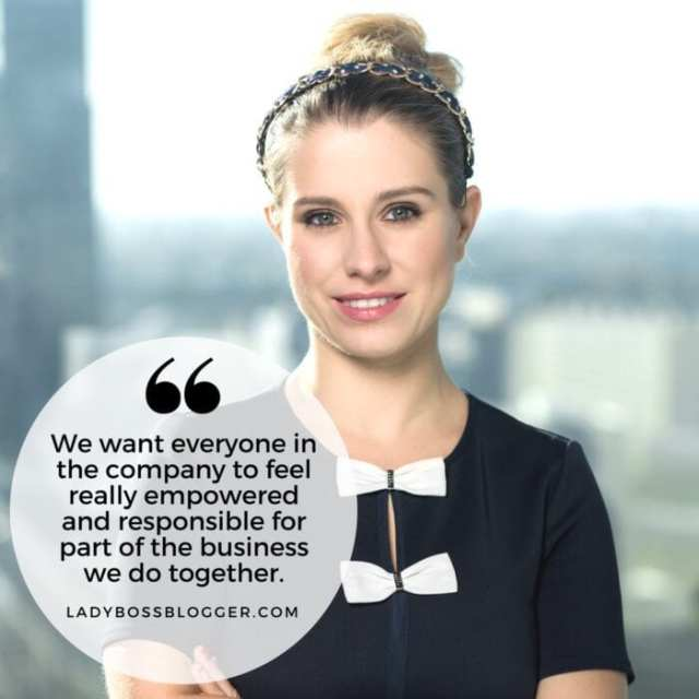 Female entrepreneur lady boss blogger Barbara Sołtysińska influencer platform