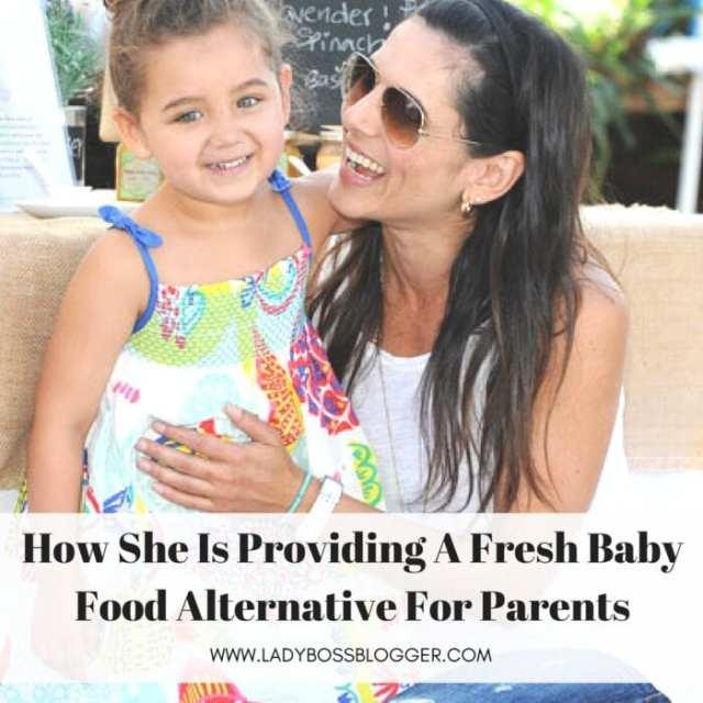 Female entrepreneur lady boss blogger Saskia Sorrosa baby food alternative