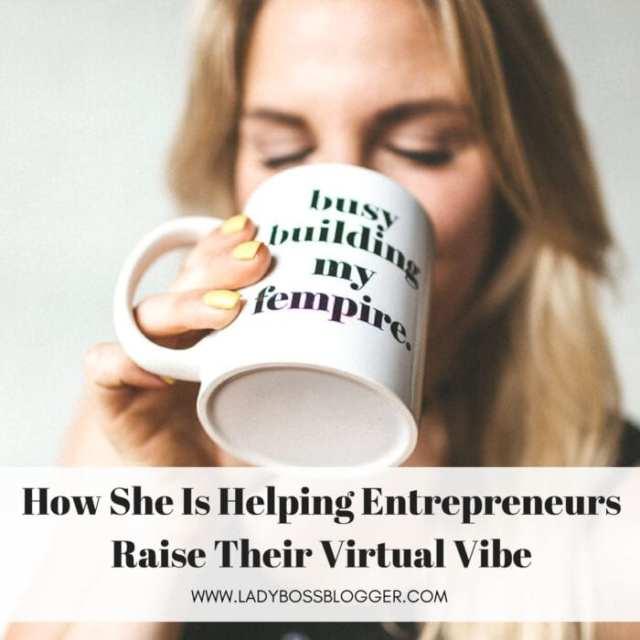 Female entrepreneur lady boss blogger Christine Emmer digital media specialist