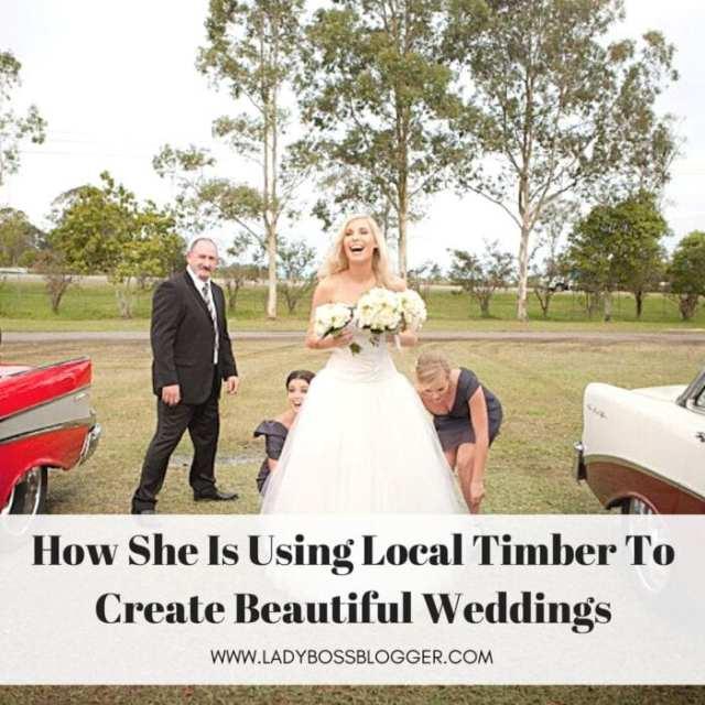 Female entrepreneur lady boss blogger Katie Walcott wedding decorator