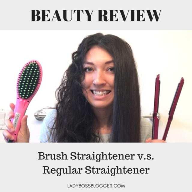 Brush Straightener v.s. Regular Straightener REVIEW ON LADYBOSSBLOGGER