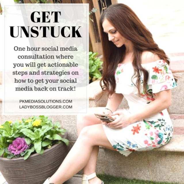 Female entrepreneur lady boss blogger Petia Kolibova social media manager