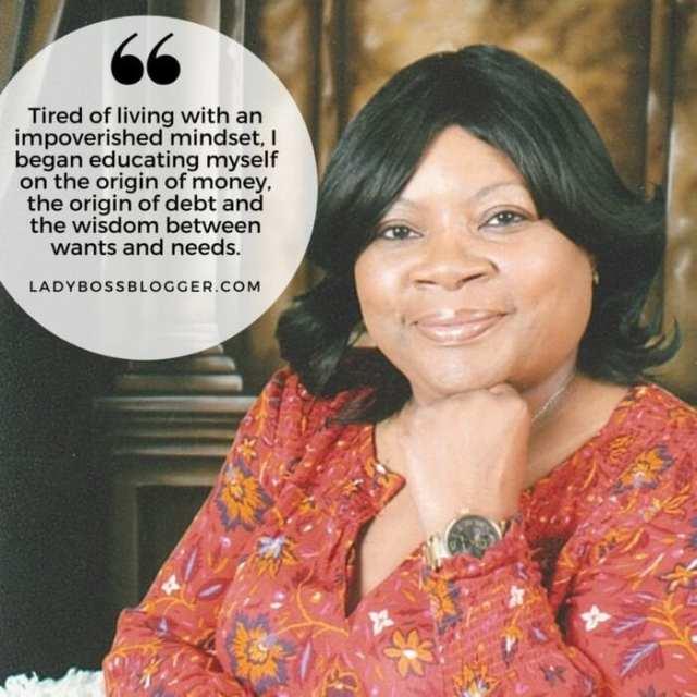 Female entrepreneur lady boss blogger Felecia Richard financial advisor
