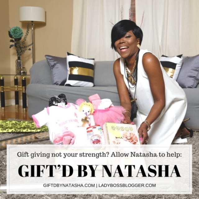 Female entrepreneur lady boss blogger Natasha Morris Gift Giving Service