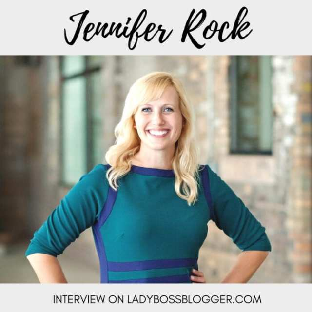 Female entrepreneur lady boss blogger Jennifer Rock communications specialist