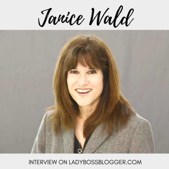 Female entrepreneur interview on ladybossblogger Janice Wald Blog Coach