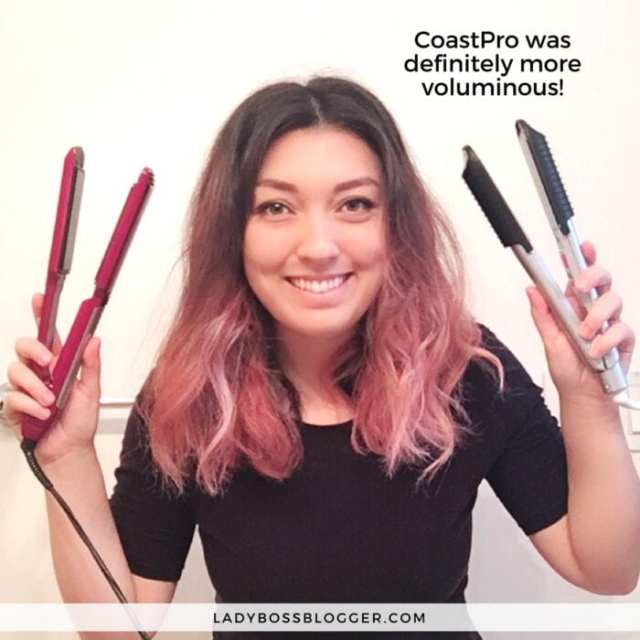 BeachWaver CoastPro Ceramic Styling Iron review on ladybossblogger written by Elaine Rau