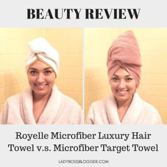 Royelle Microfiber Luxury Hair Towel review on ladybossblogger written by Elaine Rau