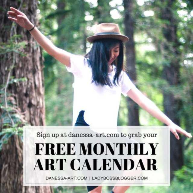 Female entrepreneur interview on ladybossblogger featuring Danessa Mayo artist