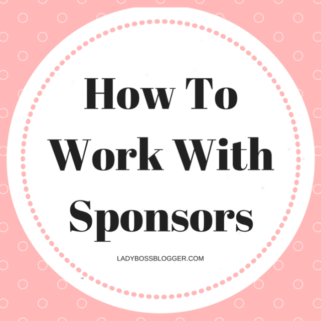 Entrepreneur resources and tips by female entrepreneurs written by Christie Lindor How To Work With Sponsors