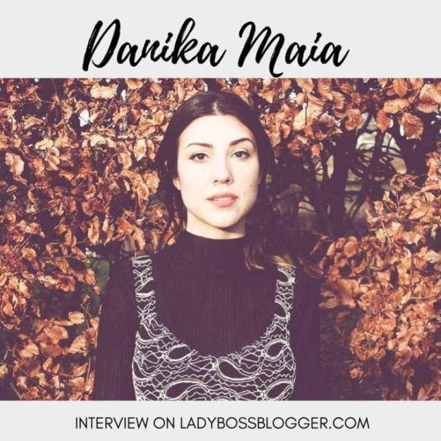 Female entrepreneur interview on ladybossblogger featuring Danika Maia emerging artist pop up event host