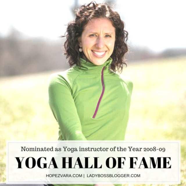 Female entrepreneur interview on ladybossblogger featuring Hope Zvara Yoga Teacher