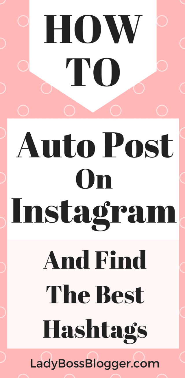 How To Auto Post On Instagram And Find The Best Hashtags written by Elaine Rau #autopost #socialmediascheduler #instagram