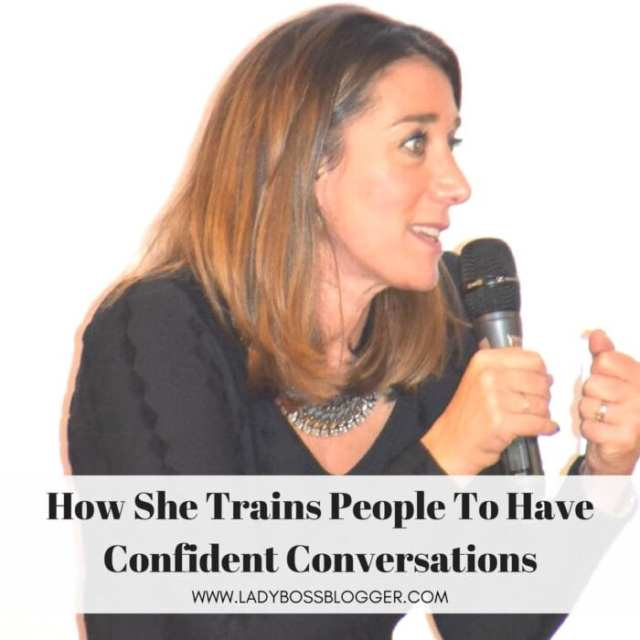 Female entrepreneur interview on ladybossblogger featuring Nicole Soames mentor for confident conversations