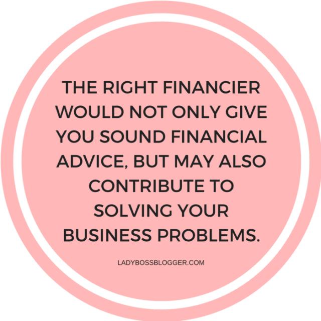 5 Things To Consider When Choosing A Good Financier