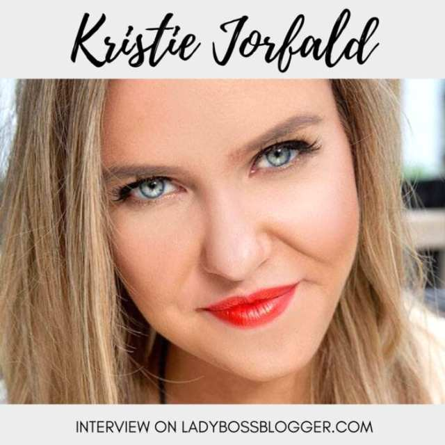 Female entrepreneur interview on ladybossblogger featuring Kristie Jorfald fashion stylist
