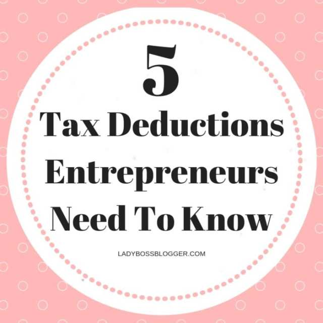 Tax Deductions Entrepreneurs