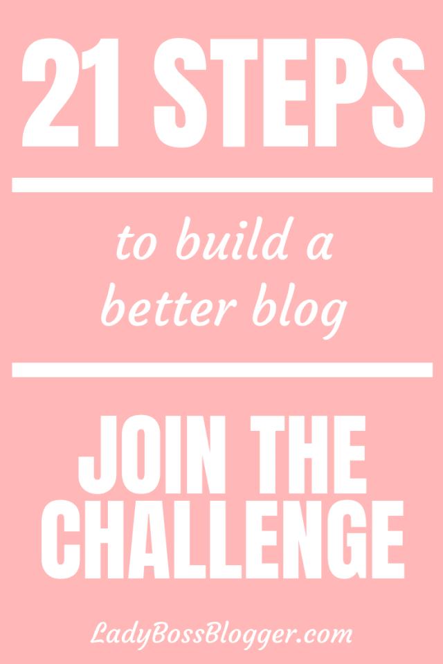 21 Days To Build A Better Blog Elaine Rau founder of LadyBossBlogger.com