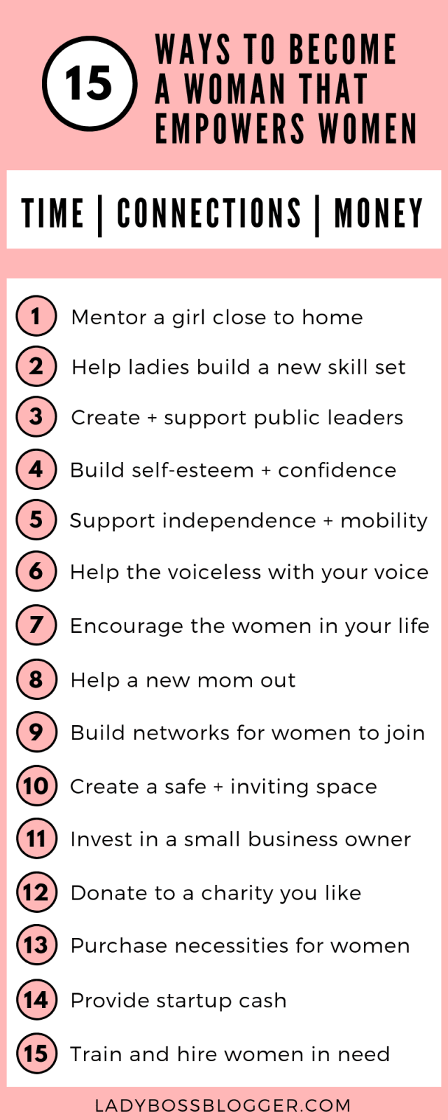 15 Ways To Become A Woman That Empowers Women ladyBossBlogger.com