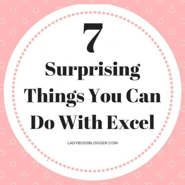 7 Surprising Things You Can Do With Excel