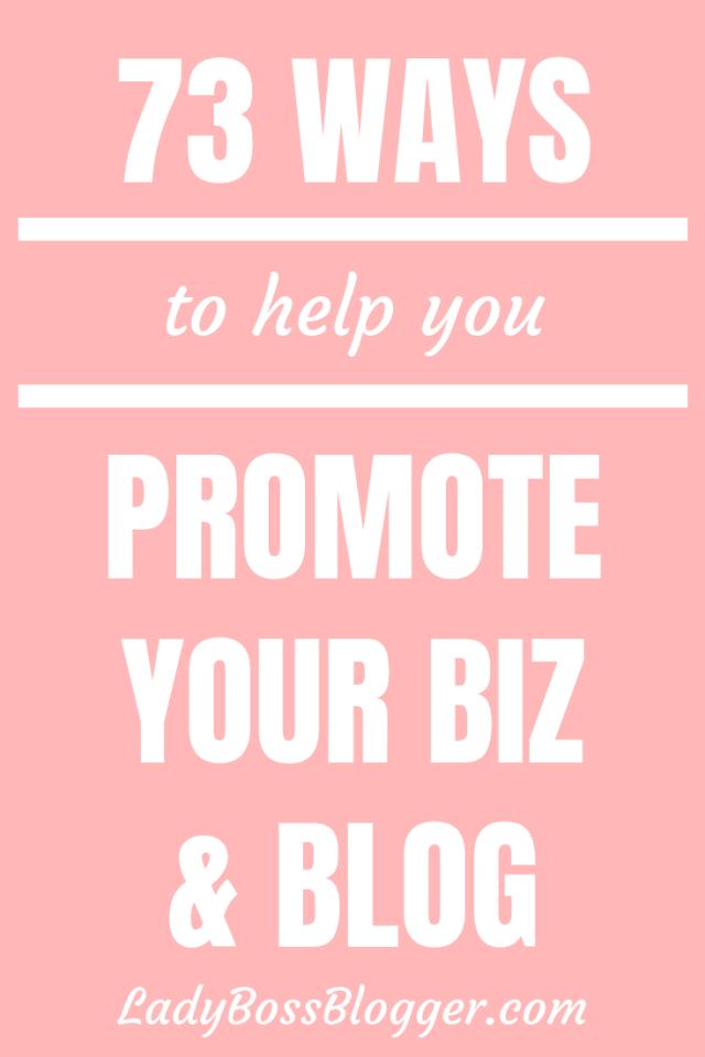73 WAYS TO PROMOTE YOUR BLOG Elaine Rau founder of LadyBossBlogger.com