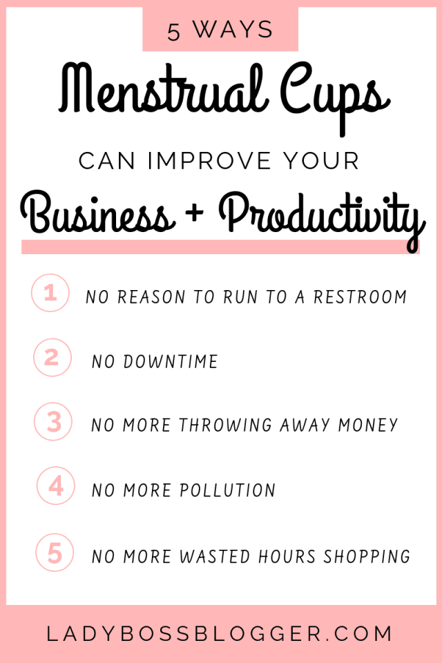 5 Ways Menstrual Cups Can Improve Your Business And Productivity