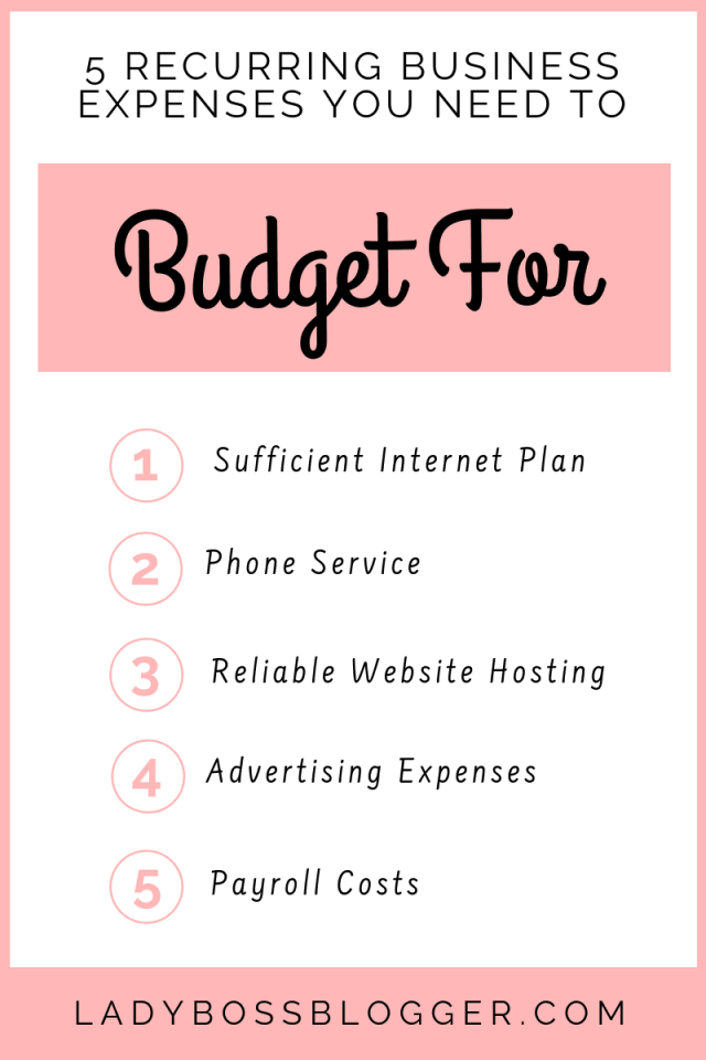 5 Recurring Business Expenses You Nee5 Recurring Business Expenses You Need To Budget Ford To Budget For