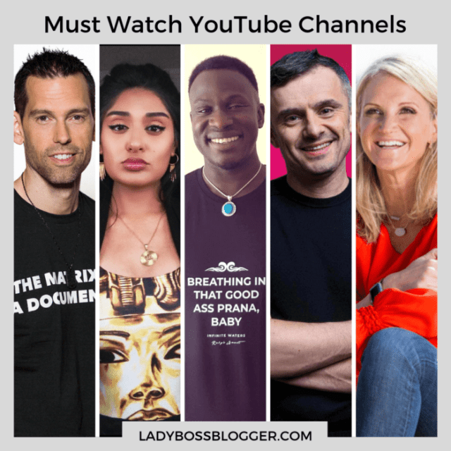 Best Youtube channels to follow ladybossblogger