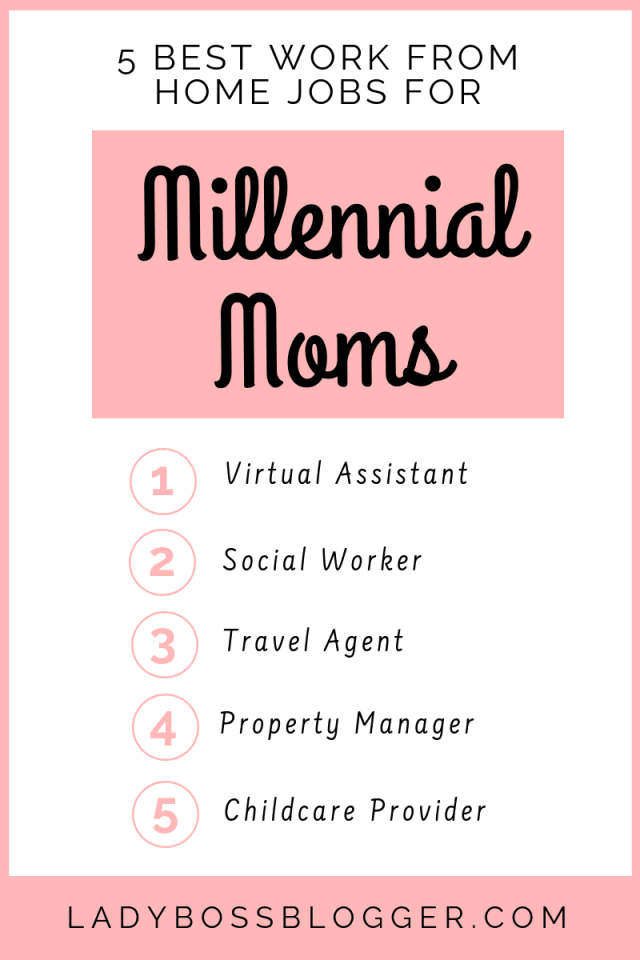 5 Best Work From Home Jobs For Millennial Moms