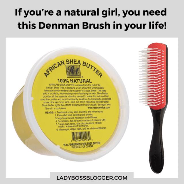 natural hair accessories denman brush ladybossblogger