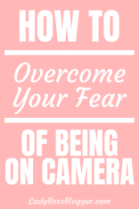 fear of being on camera