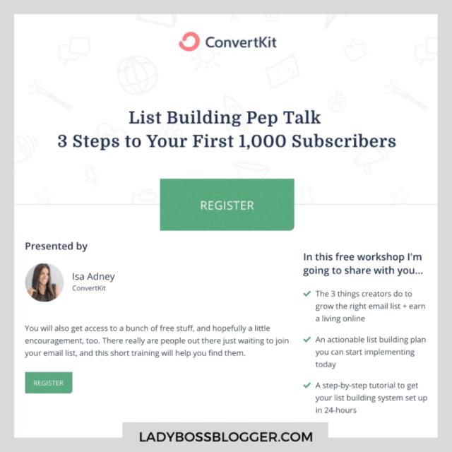 convertkit ladybossblogger