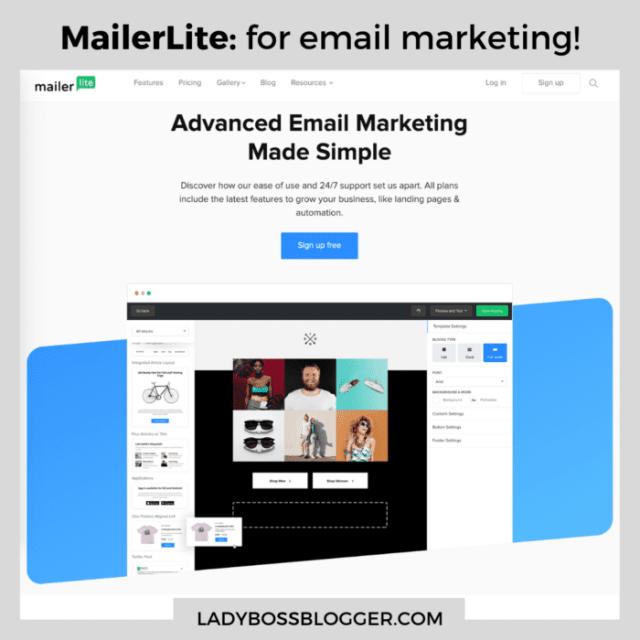 mailerlite email marketing ladybossblogger
