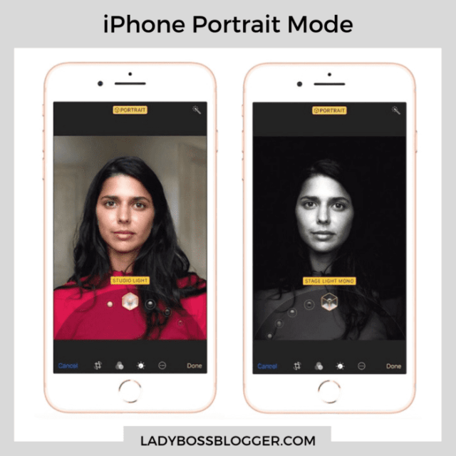 iPhone Portrait mode example ladybossblogger