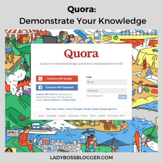 quora ladybossblogger