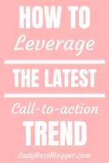 Call To Action Trend