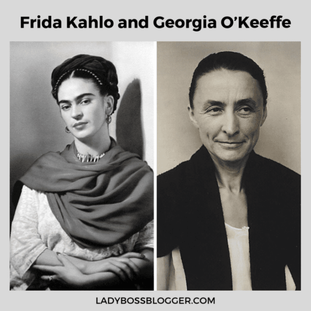 frida khalo and georgia okeeffe ladybossblogger
